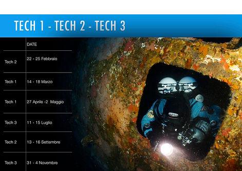 calendario corsi technical diver argentario divers