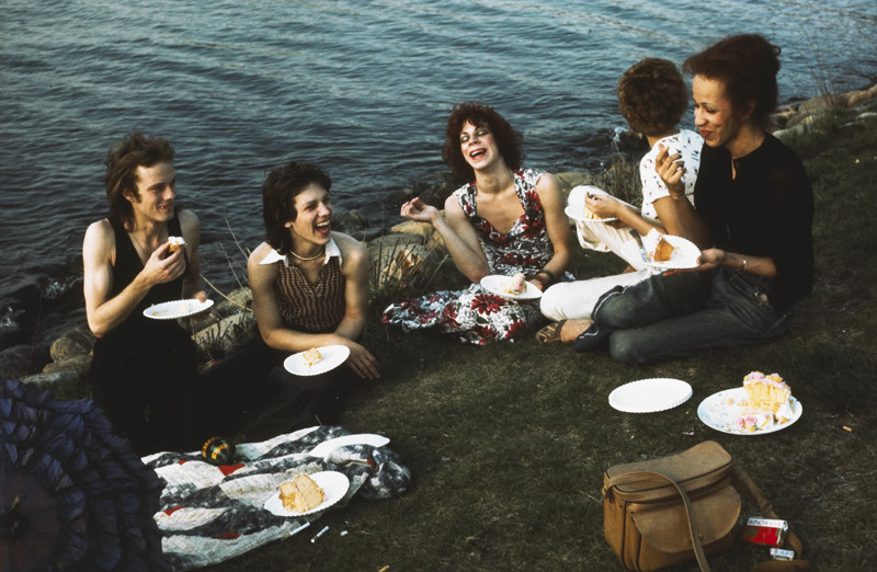 """Nan  Goldin, """"Picnic on the Esplanade, Boston, 1973"""", Cibachrome print, 11 x 14 in. (27.9 x 35.6 cm), courtesy of The Museum of Contemporary Art, Los Angeles, The Nimoy Family Foundation"""