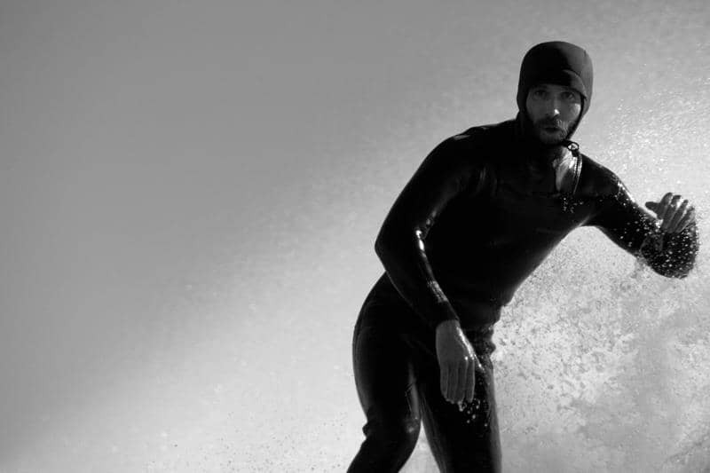 Donovan Maccarone surfing in Santa Barbara. Photo by Kyle MacLennan.