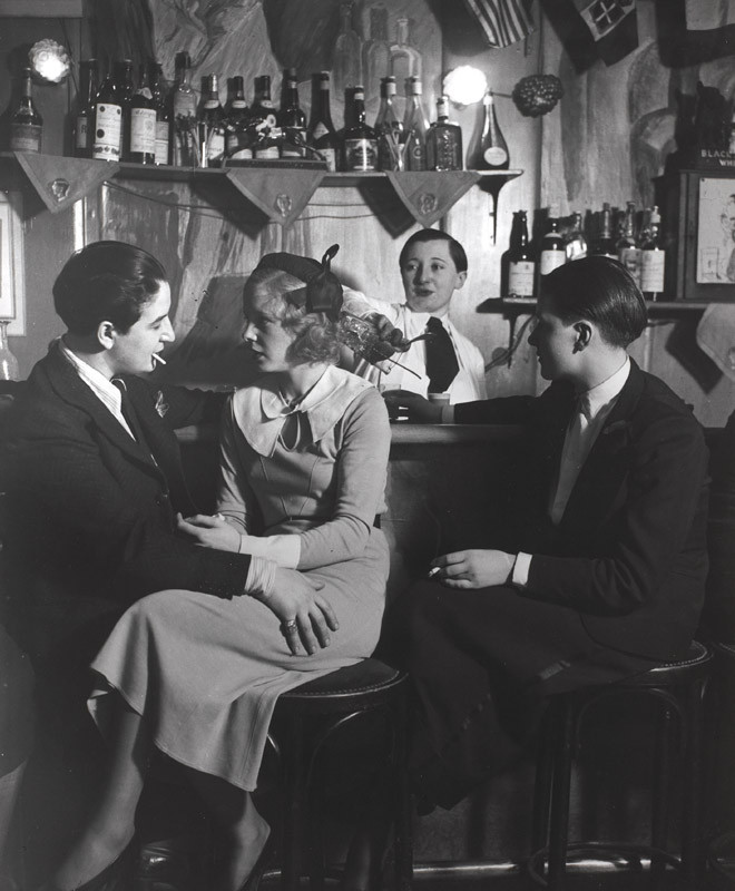 "Brassaï, ""Le Monocle, the bar. On the left is Lulu de Montparnasse, c. 1932"", gelatin silver print, courtesy of The Museum of Contemporary Art, Los Angeles, The Ralph M. Parsons Foundation Photography Collection"