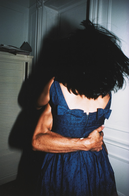 """Nan Goldin, """"The Hug, New York City, 1980"""", Cibachrome print, 14 x 11 in. (35.6 x 27.9 cm), courtesy of The Museum of Contemporary Art, Los Angeles, The Nimoy Family Foundation"""