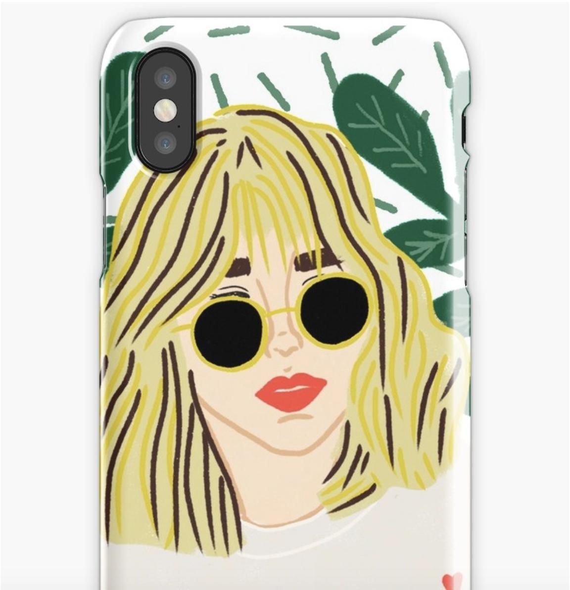Sunglasses Girl - Phone Case