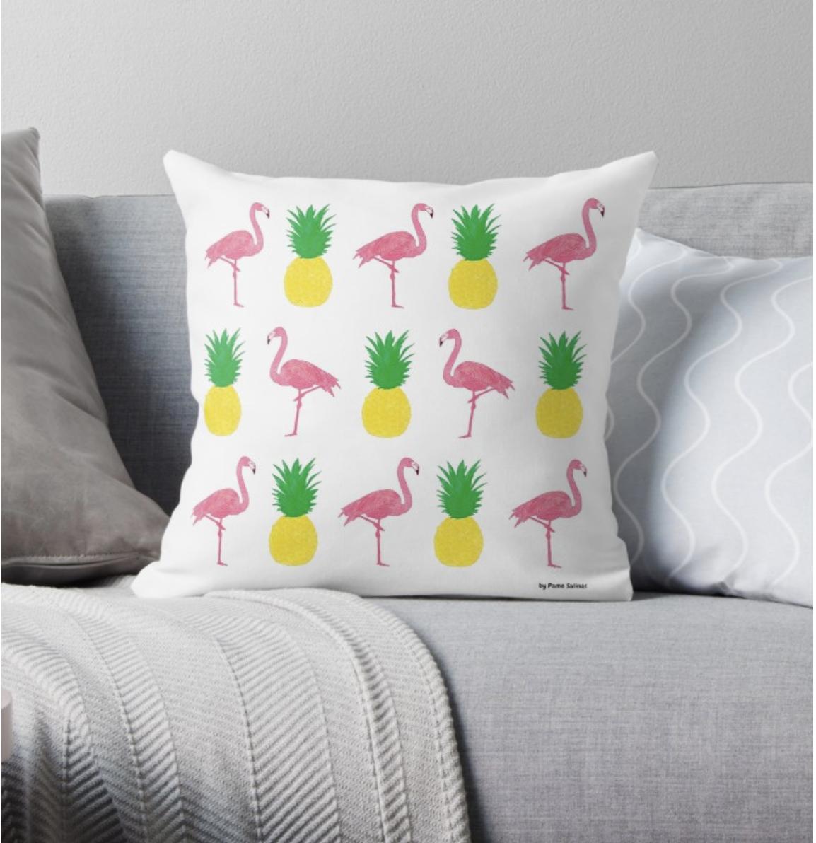 Flamingos&Pineapples - Pillow