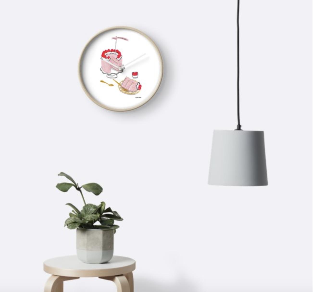 Raspberry Cake - Wall Clock