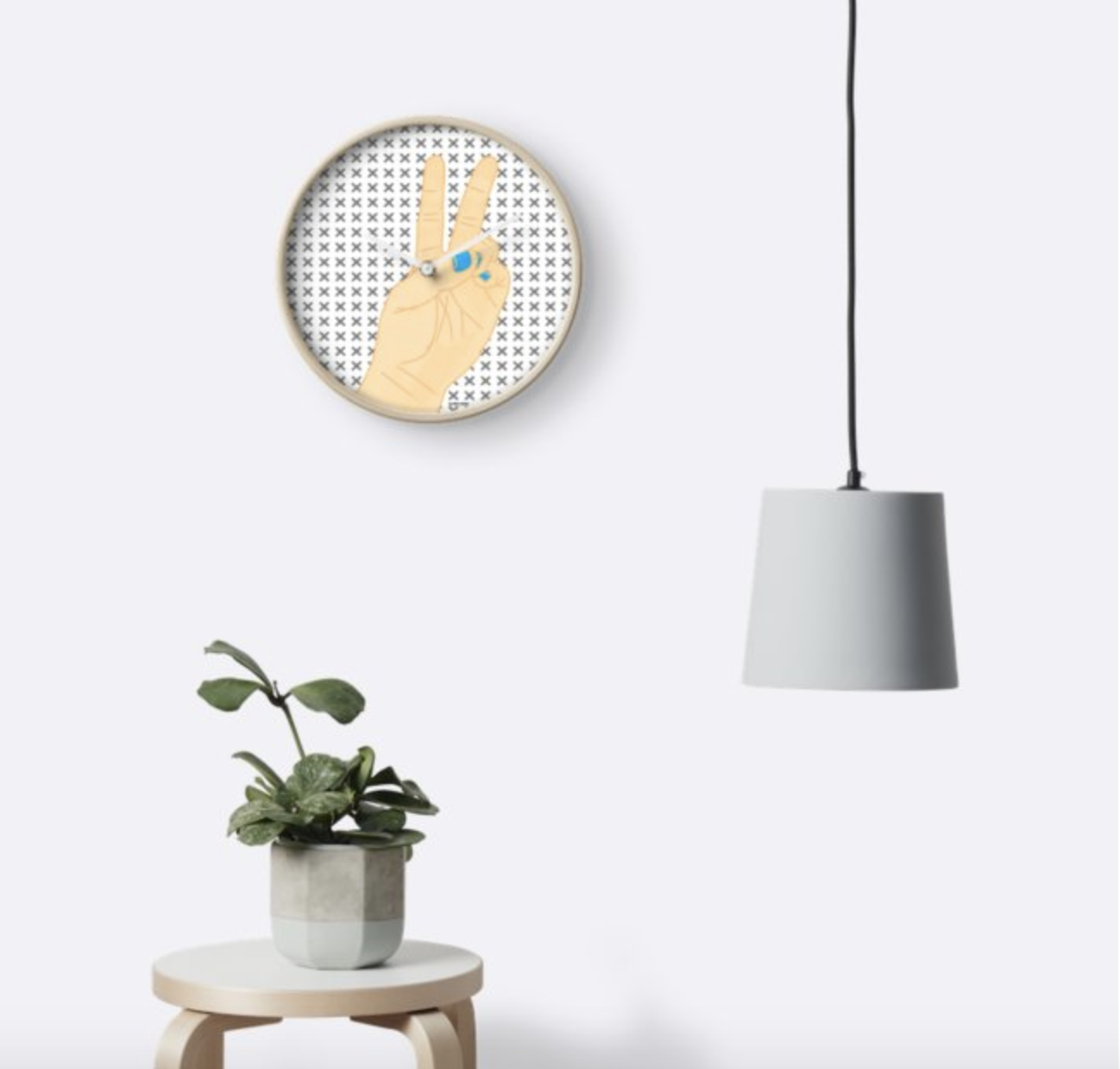Lefty Peace - Wall Clock