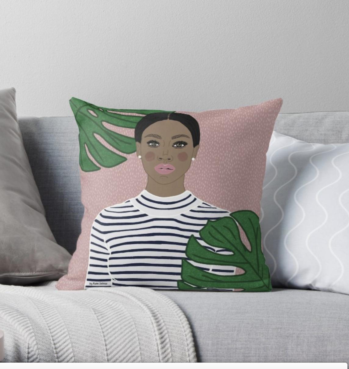 Plants Girl Pillow