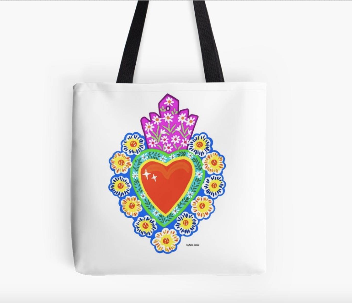 Sacred Heart Tin Tote Bag