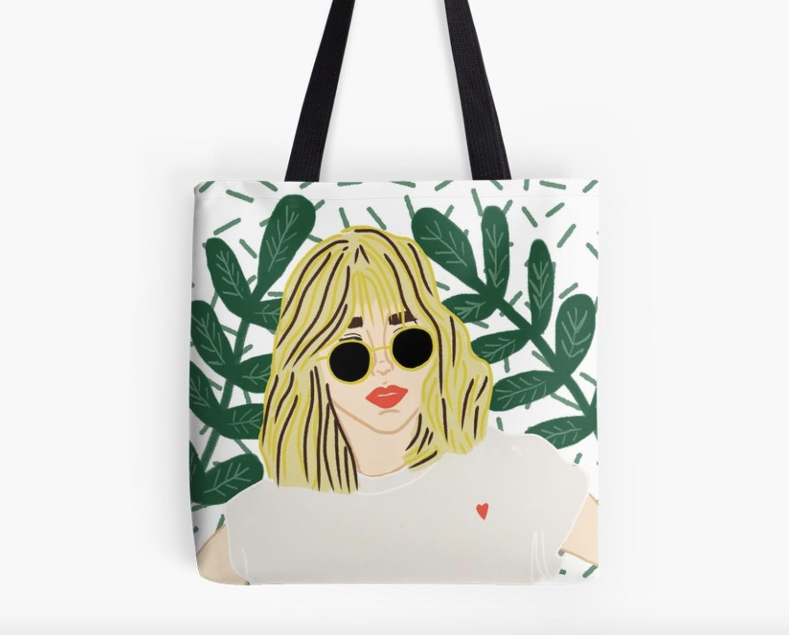 Sunglasses Girl - Tote Bag