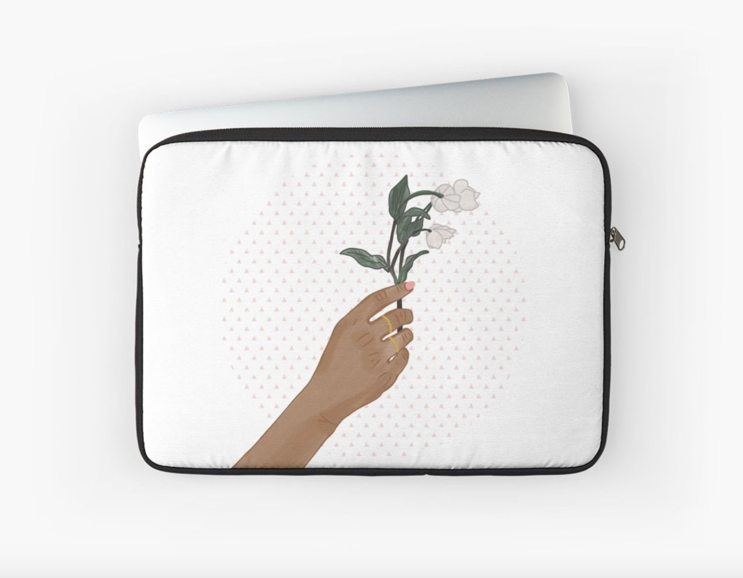 Hand holding Flowers - Laptop Sleeve