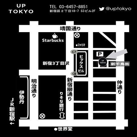 UP TOKYO 地図