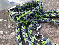 Paracord Halsband Hundeleine grün grau schwarz