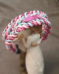Paracord Halsband Hund rosa