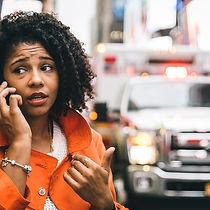 bigstock-Afro-American-Woman-Calling---1