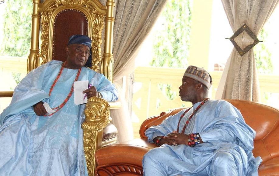 Chief Semako Visits Oba Adedotun Gbadebo