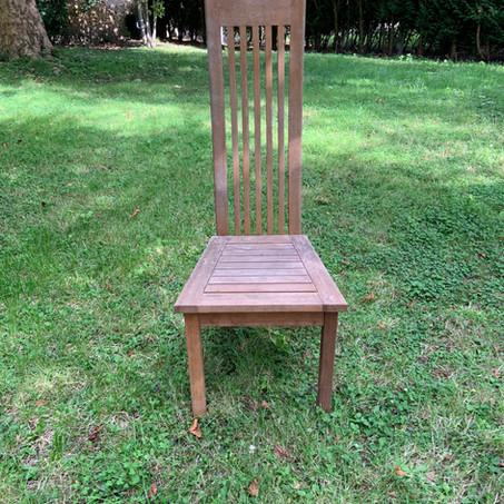 7 chaises de jardin en teck