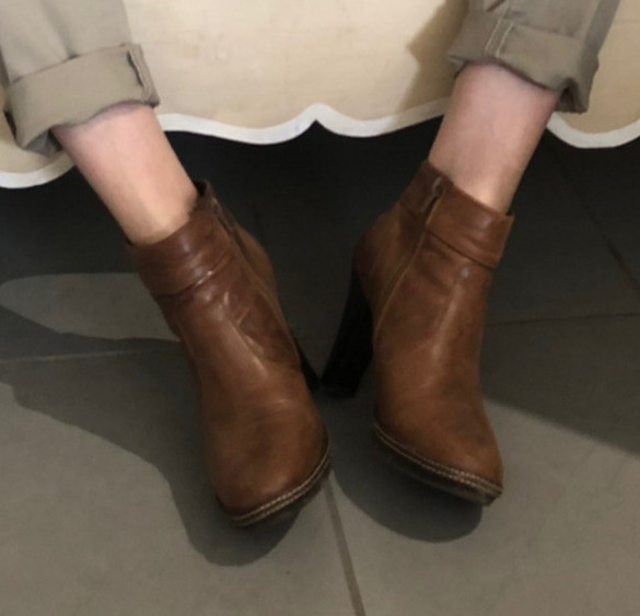 Bottines marron Cuir