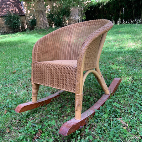 Rocking chair enfant osier