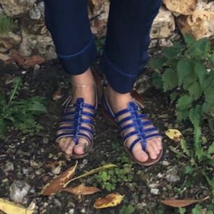 Sandales bleues Les Tropeziennes