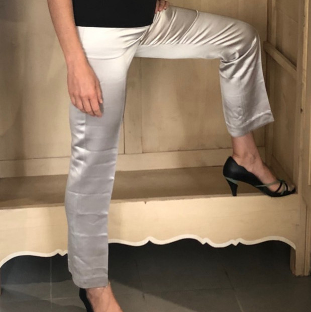 Pantalon satin Gris Bob Shop