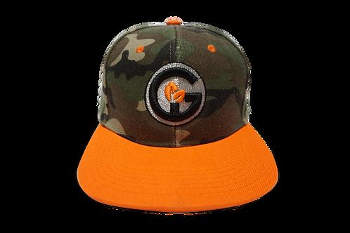 GI Cap - Orange with Camouflage