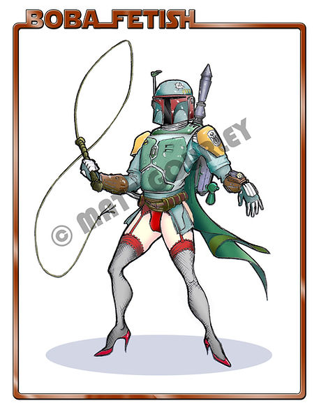 Matt Gourley's artwork for Boba Fetish