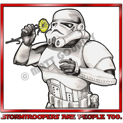 Matt Gourley's artwork for Stoemtroopers Are People Too