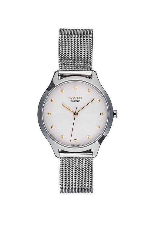 Relógio Cauny Majestic Patterns Silver