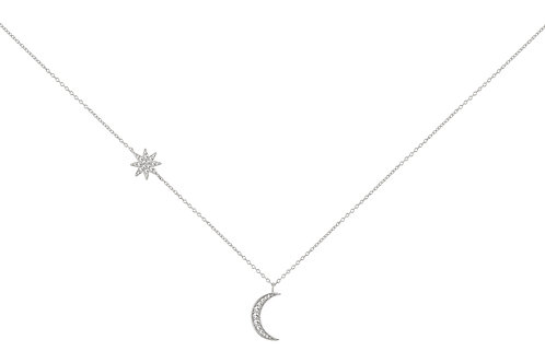Colar Prata Unike Mix & Match Moon & Stars