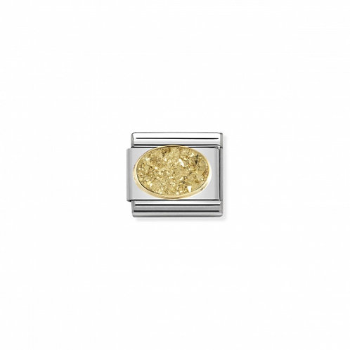 Link Nomination Agate Yellow Gold