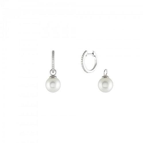 Brincos Prata Unike Classy Pearls