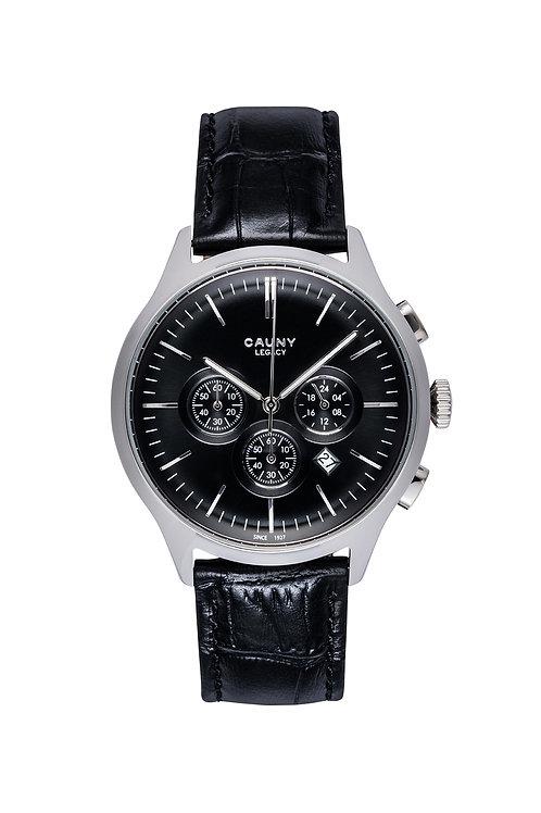 Relógio Cauny Legacy Black Silver Cronógrafo