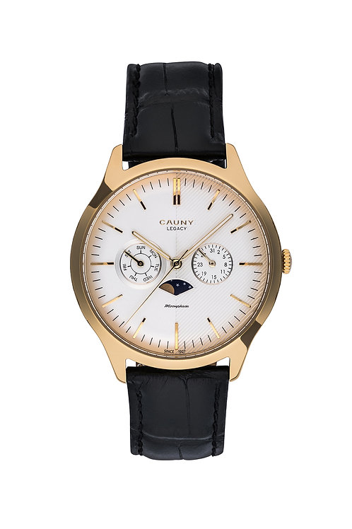 Relógio Cauny Legacy Moon-phase Multifunctions Gold