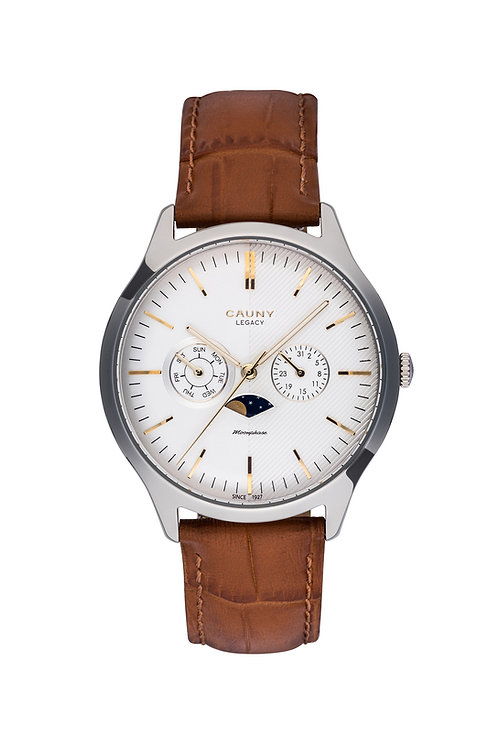Relógio Cauny Legacy Moon-phase Multifunctions Silver