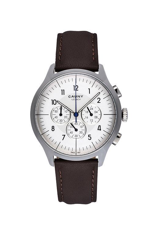 Relógio Cauny Legacy White Silver Chronograph