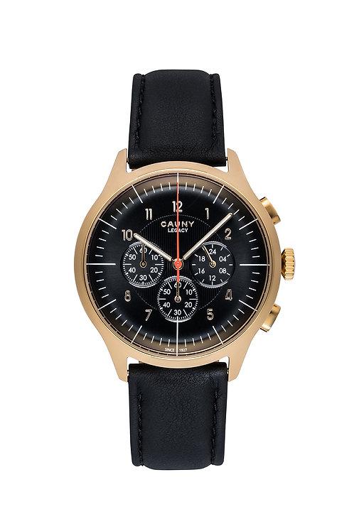 Relógio Cauny Legacy Black Gold Cronógrafo