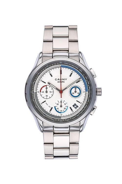 Relógio Cauny Accura Silver Cronógrafo