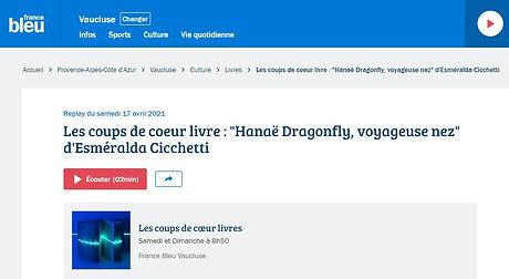 Interview France Bleue 17/04/21
