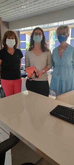 Aurélie et l'équipe de l'agence immo Terres de Siagne