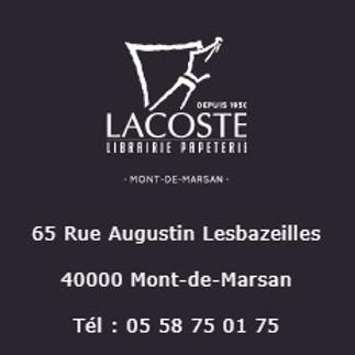 Séance de dédicace- Librairie Lacoste, Mont de Marsan