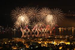 feu d'artifice à Cannes