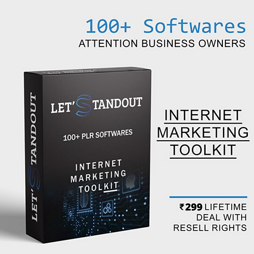 100+ Ready To Use Internet Marketing Softwares (PLR)