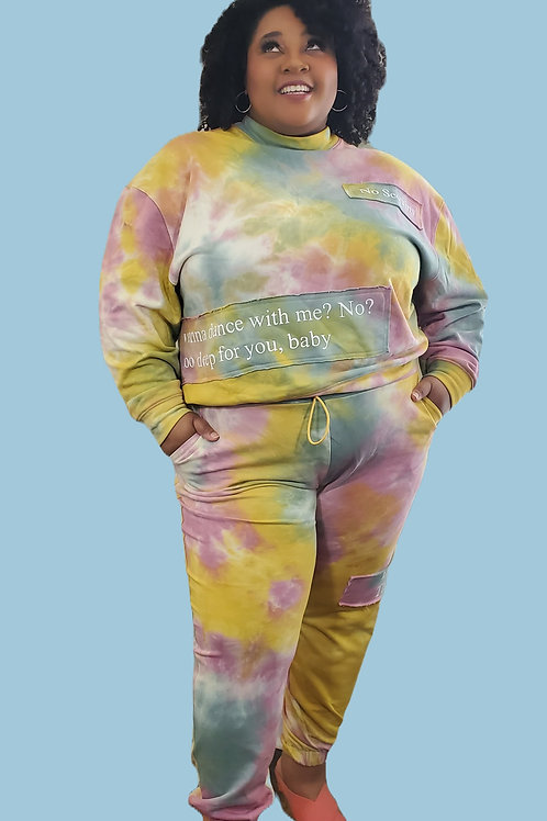 Bubble Rust 2 piece set with matching mask