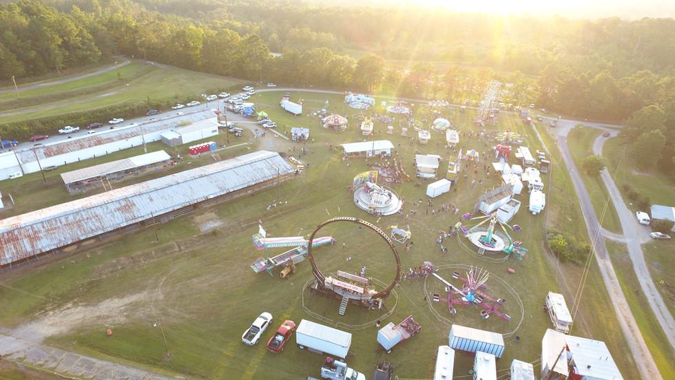 Polk County Fair Aerial Shot