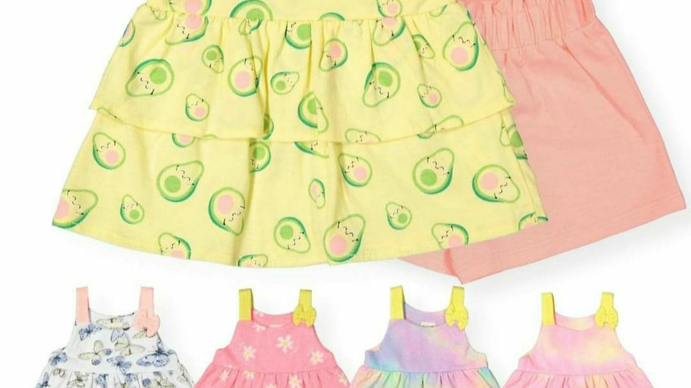 Baby girls bright top/dress with shorts