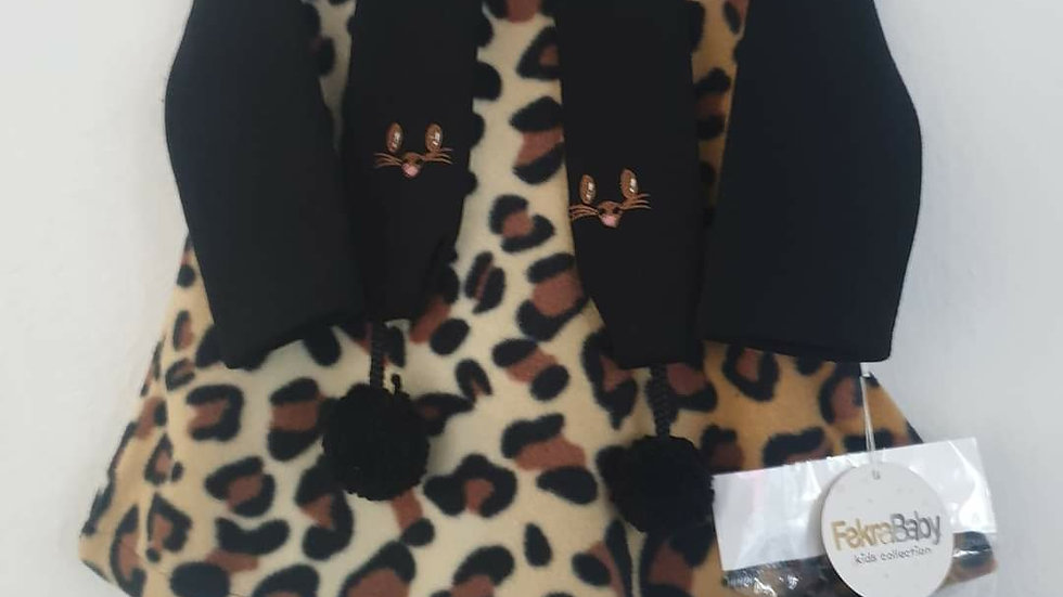 Girls 3 piece  leopard print outfit