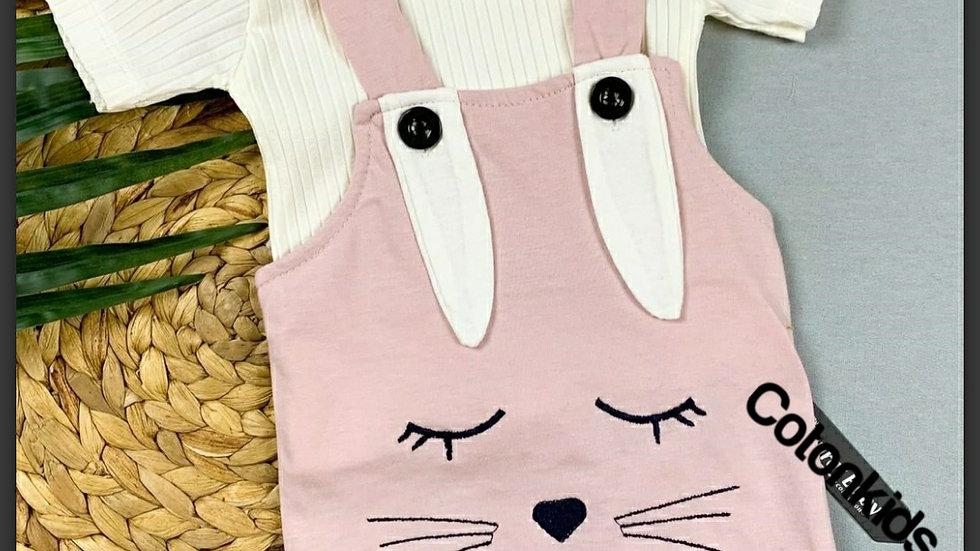 Girls 2 piece  bunny romper