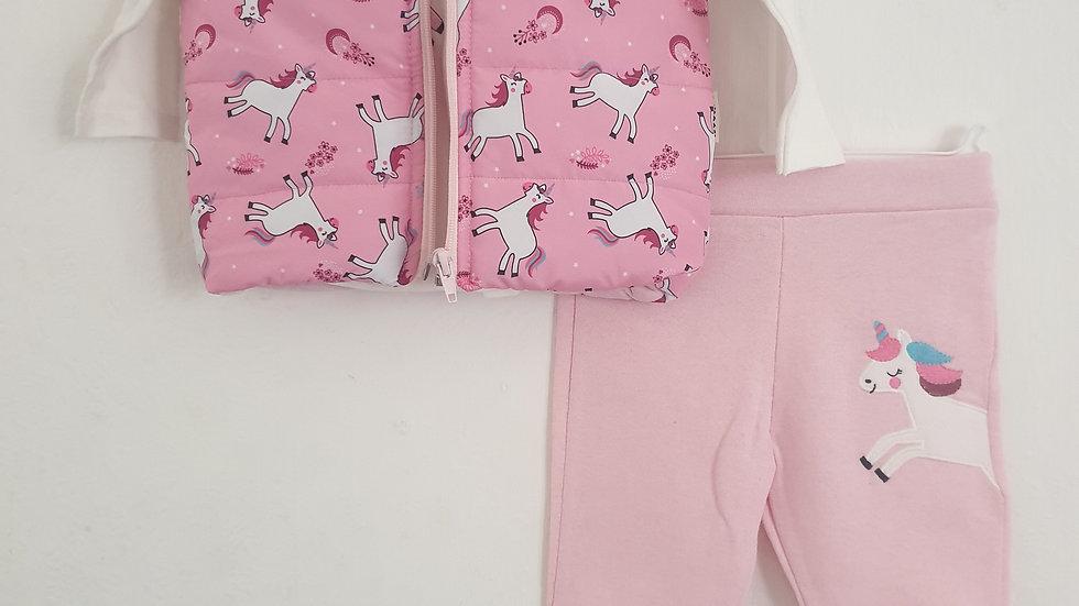 Girls unicorn 3 piece outfit 😍
