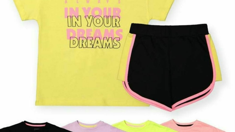 Girls in your dreams shorts and t-shirt sets