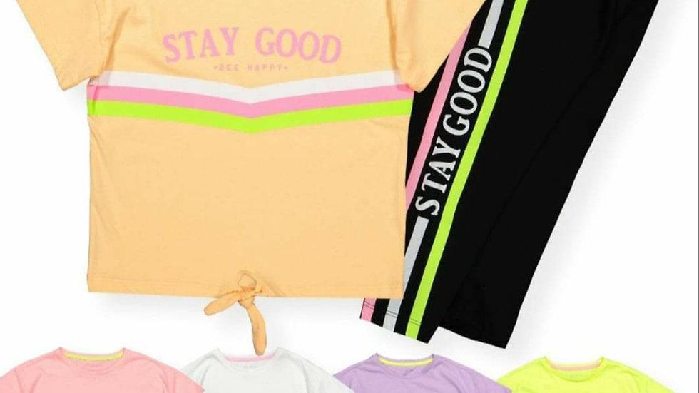 Stay good leggings and t-shirt set