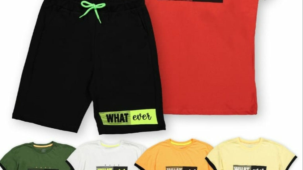 What ever boys shorts and t shirt sets